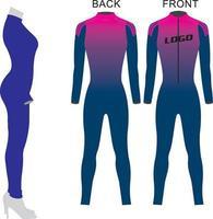maquetas de traje de piel vector