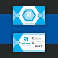 vector de plantilla de tarjeta de visita moderna y creativa pro