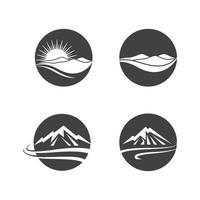 Mountain logo images set vector