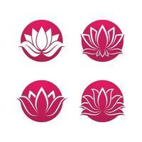 conjunto de imágenes de logo de loto de belleza vector