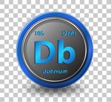 elemento químico dubnio vector