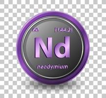 elemento químico de neodimio vector