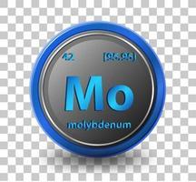 elemento químico de molibdeno vector