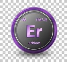 elemento químico de erbio vector