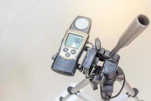 Lux meter for measuring light intensity photo