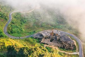 Top view around Genting Resort in the Genting Highlands, Pahang, Malaysia