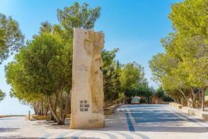 Statue put by John Paul II in Mount Nebo, Jordan, 2018