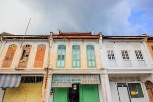 Buildings in Ipoh old Town in the state of Perak, Malaysia, 2017