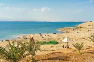 People at the Dead sea in Jordan, 2018