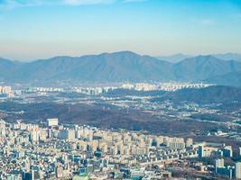 vista aérea de la ciudad de seúl, corea del sur
