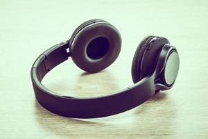 Headphones on white background photo