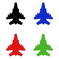 Jet Set On White Background vector
