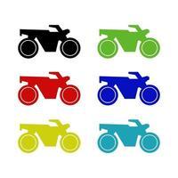 motocicleta en fondo blanco vector