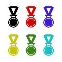 medalla sobre fondo blanco