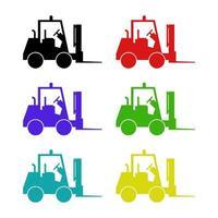 Forklift On White Background vector