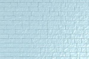 Ilustración 3d de una pared de ladrillo azul foto
