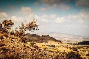 Scant and dry rocky mediterranean landscape photo
