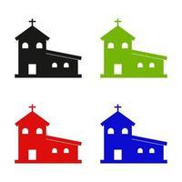 Church Set On White Background vector