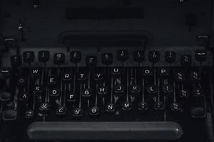vieja máquina de escribir vintage foto