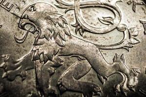 primer plano de la moneda de la corona checa
