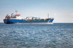 Unknown Industrial ship in the Mediterranean sea