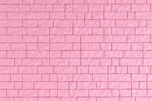 Ilustración 3d de una pared de ladrillo rosa foto