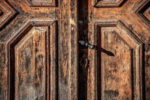 Old wooden door photo
