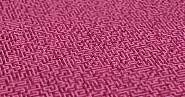 Ilustración 3d de un fondo de laberinto rosa foto