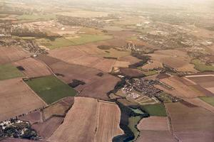 Aerial view of agricultural fields photo