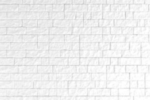 Ilustración 3d de una pared de ladrillo blanco foto