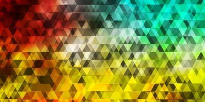 Light Multicolor vector texture with lines, triangles.