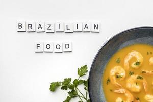 concepto de comida brasileña