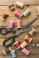 Thread and scissors photo
