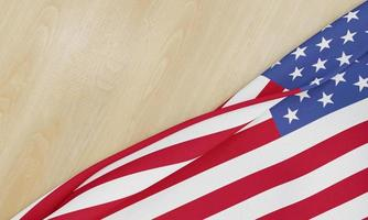 bandera americana en madera foto