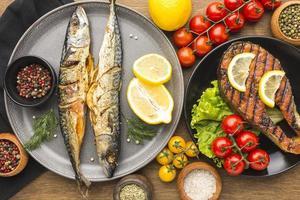 plato de pescado ahumado