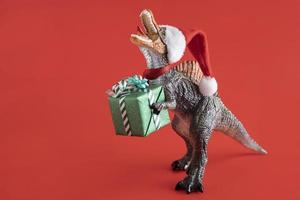 concepto de navidad t-rex