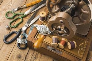 concepto de máquina de coser