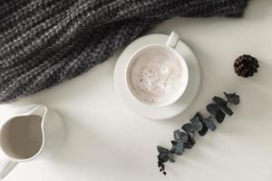 Winter latte concept photo