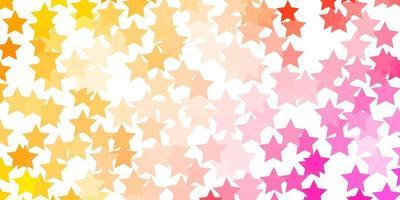 Light Orange vector texture with beautiful stars.