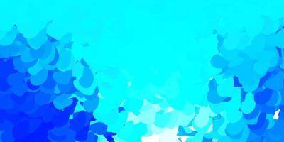Dark blue vector background with random forms.