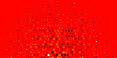 Light Orange vector background with bubbles.