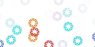 Light blue, red vector background with spots.