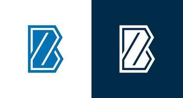 Monograma futurista moderno de la letra b y z. inicial b, plantilla de logotipo de marca de letra z