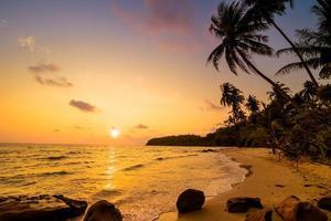 Paradise island with beach and sea