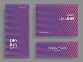 conjunto de folletos con líneas geométricas vector