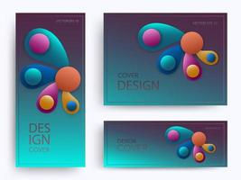 Colorful design of flower-shaped brochures vector