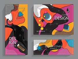 colección colorida de moda en estilos de memphis vector