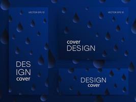 folletos abstractos con gotas de degradado vector