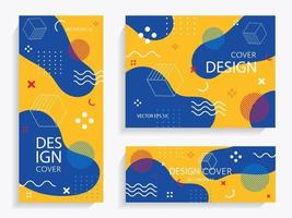 Cheerful Memphis with geometric shapes vector