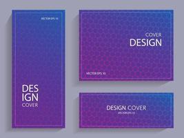 conjunto de folletos con formas geométricas vector